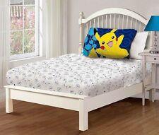 Pokemon 3 Piece Twin Sheet Set Flat Sheet Fitted Sheet 1 Pillowcase NEW