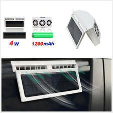 2.4V 4W Three Fans Solar Powered Car Window Ventilator Cooler Air Vent Radiator