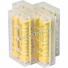 8pcs 18650 3.7V 9800mAh Yellow Li-ion Rechargeable Battery + Storage Box Cover