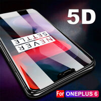 For 1+ 6 Premium 5D Curved HD Clear Full Tempered Glass Screen Protector OET
