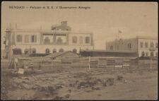 cartolina militare BENGASI palazzo di s.e. il governatore Ameglio