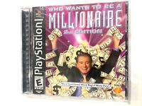 Who Wants to Be a Millionaire 2nd Edition Sony PlayStation 1 PS1 Complete CIB