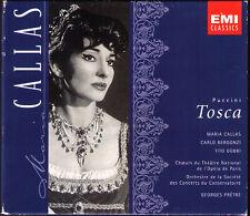 PUCCINI: TOSCA Maria CALLAS Carlo BERGONZI Tito GOBBI Georges PRETRE 1964/5 2CD