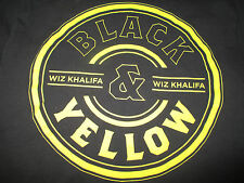 "WIZ KHALIFA ""BLACK and YELLOW"" Concert Tour (MED) T-Shirt"