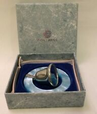 """Vintage Web Pewter Baby Bell Rattle Mother-of-Pearl , 2-1/2""""L"""