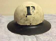WW1 US Doughboy Helmet. White/Black Original/Unrestored with Liner and Chinstrap