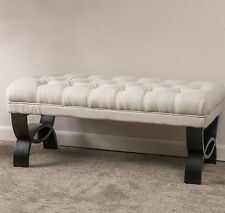 Ottomans and Benches for Bedroom Upholstered Home Scarlette Tufted Fabric