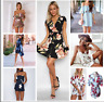 NEW Womens Holiday Mini Playsuit Ladies Shorts Jumpsuit Summer Beach Dress 6-16