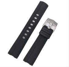 OMEGA SEAMASTER 300 20MM RUBBER WATCH STRAP FLEXIBLE BLACK MENS WRIST BAND