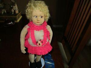 "12"" Antique All Original Lenci Girl Doll"