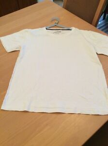 boys clothes 11-12 years Rebel White Cotton Short Sleeved Top T-shirt