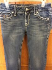 Rock Revival Womens Jeans Debbie Straight Size 29 Embellished Thick Stitch