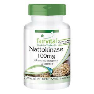 Nattokinase 100 mg - 90 Tabletten | 2000 FU | hochdosiert | VEGAN |  fairvital