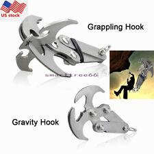 US Steel Survival Grizzly Hook Gravity Grappling Folding Climbing Claw Stainless
