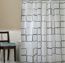 PEVA 180 x 200cm Mould proof Shower Curtain Square Bathroom With 12 Hooks Set