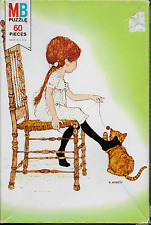 "Vintage Holly Hobbie with Kitten 60 piece 17"" x 11""  puzzle Milton Bradley 1976"