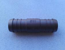 (2710) 1x Schlauchverbinder RGV 20 / 20 mm Connector / 72mm gerader schwarz