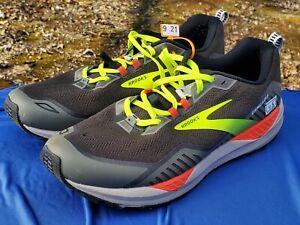 Brooks Cascadia 15 sz 11.5 D All-Terrain Black Mens Running Shoe 1103401D076