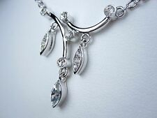 """Crystals - 16-18"""" Length 0342 D'Orlan Rhodium Plated Pendant with Swarovski"""