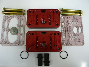 Holley QFT AED CCS 950CFM Pro Billet Metering Block Kit 2 Circuit 5 Emulsion Red