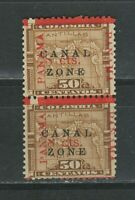 Canal Zone Sc14 1904/06 ☀ 8c on 50c PAIR ☀ MNH**