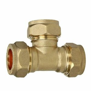 Compression 4mm Brass Tee 3 Way Junction Equal Branch Connector Copper Fitting