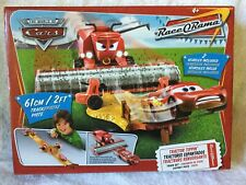 DISNEY CARS TRACTOR TIPPIN FRANK RACE O RAMA PLAY SET NEW Mattel