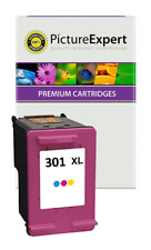 More details for text quality 301xl colour ink cartridge for hp envy 5530 5532 4501 e-all-in-one