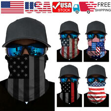 1-2 PCS FACE MASK GAITER BANDANA Cover Tube Neck Scarf Headband Motorcycle