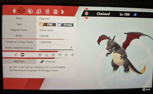 Shiny Black Charizard 6IV Max EVs Competitive Pokemon Sword Shield FAST DELIVERY