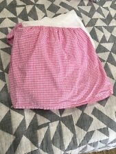 Pottery Barn Kids Full Size Pink Gingham Checked Bed Skirt Dust Ruffle