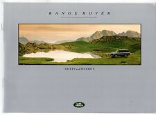 Range Rover Safety & Security 1992-93 UK Market Sales Brochure Vogue SE LSE