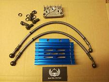 BLue alloy cnc oil cooler Pit Dirt quad monkey bike 50cc 90cc110cc 125cc 140cc