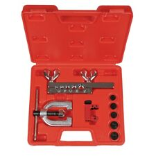 New Double Flaring Tool Kit w/ Mini Tubing Cutter Brake Air Water Gas Plumbing