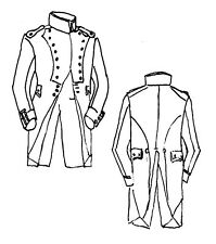 1805 Habit Longe sewing pattern 46/48 Reenactor French Napoleonic uniform