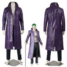 Jared Leto Joker Costume Suicide Squad Halloween Cosplay Costume Purple Coat