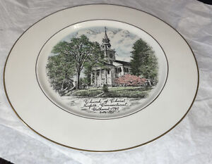 "Church of Christ Norfolk CT 1960 Limited Ed 10"" Plate!"