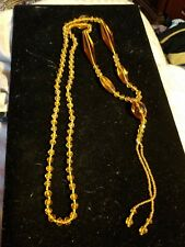 faceted Necklace long antique Victorian knotted Amber