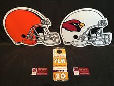 Arizona Cardinals vs Cleveland Browns 12/15 Yellow YLW Lot Parking Pass Tickets