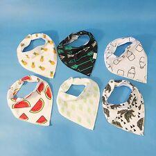 Baby Bandana Drool Teething Feeding Bib Unisex 6 Pack Gift Set by Pineapple Baby