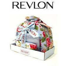 Revlon Travel Cosmetics Bag 3 Piece Blue & Floral Pattern Gift Set Vintage/NEW