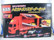 Renntransporter m. 4 Fahrzeugen Honda, Mazda, Daihatsu, von Takara Tomy Tomica