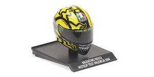 Helm AGV Valentino Rossi 2010 Test Valencia -Minichamps 1/10- 315100066