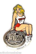 HOOTERS RESTAURANT 20th ANNIVERSARY GIRL NORFOLK II LAPEL BADGE PIN