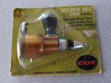 Cox Airplane Oversize Fuel Tank In Original Package Unused Golden Bee .049