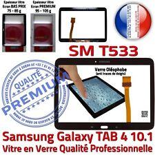 Vitre Tactile SM-T533 TAB 4 Assemblée Adhésif Prémonté Samsung Ecran Noir