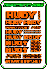 HUDY TOOLS SETUP STICKERS XRAY RC BUGGY CAR DECAL 1/10 1/8 JSPEC ELEC ORANGE B