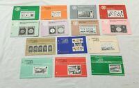 Job Lot x 14 Guernsey Mint Decimal Stamps Packs Philatelic Bureau 1975-1983 S338