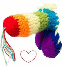 knitted novelty rainbow willy warmer stag do rude naughty joke gift adult
