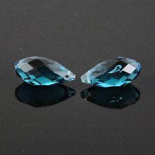 4pcs 10X20mm Swaro-element Teardrop  crystal beads A Peacock-blue